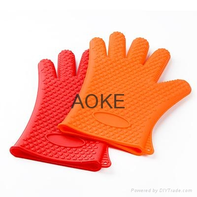 隔热手套加厚硅胶  2