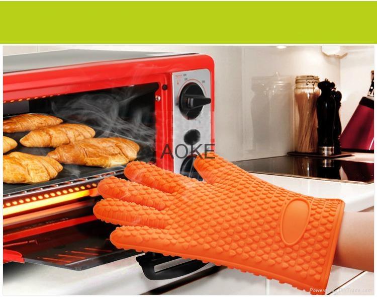 隔热手套加厚硅胶  3