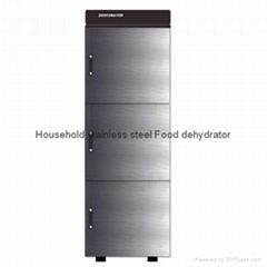 304 Stainless Steel Food Dehydrator with 3 Layers 30 Trays