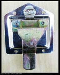 Trailer recessed t paddle handle lock