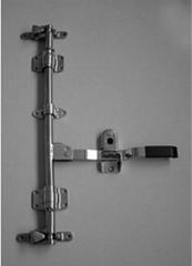 Trailer cam door locking gear