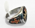 Fashion 316l stainless steel jewelry men's masonic rings  2