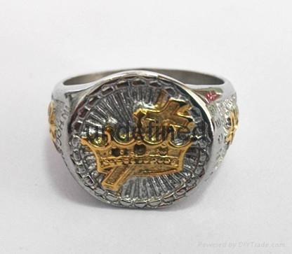 Fashion 316l stainless steel jewelry men's masonic rings  5