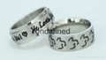 Fashion 316l stainless steel rings jewelry engraved rings for men  2