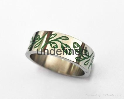 Fashion 316l stainless steel rings jewelry engraved rings for men  3