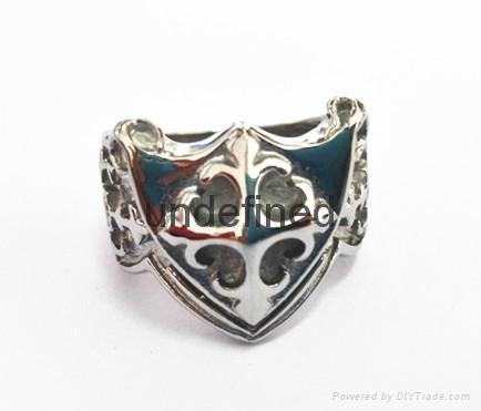 Hot sale stainless steel men's jewelry skull casting ring biker man's ring  4