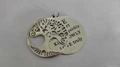 Fashion  two layer 316l  stainless steel jewelry tree of life pendant