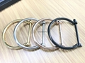 Fashion stainless steel high polished D shape screw bangles for girls  5