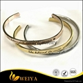 Fashion stainless steel high polished inspiration engraved message cuff bracelet 4