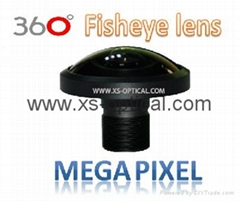 Megapixel Fisheye Lens  FOV 240 degree for 360 action camera VR video