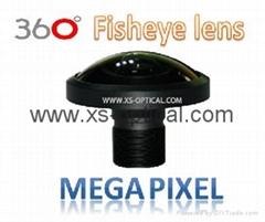 Megapixel Fisheye Lens  FOV 240 degree for 360 action camera VR video