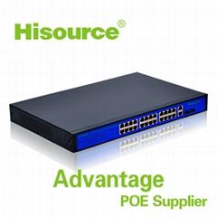 2016 Good quality 24 poe port 250W  10/100/1000 M gigabit Ethernet switch