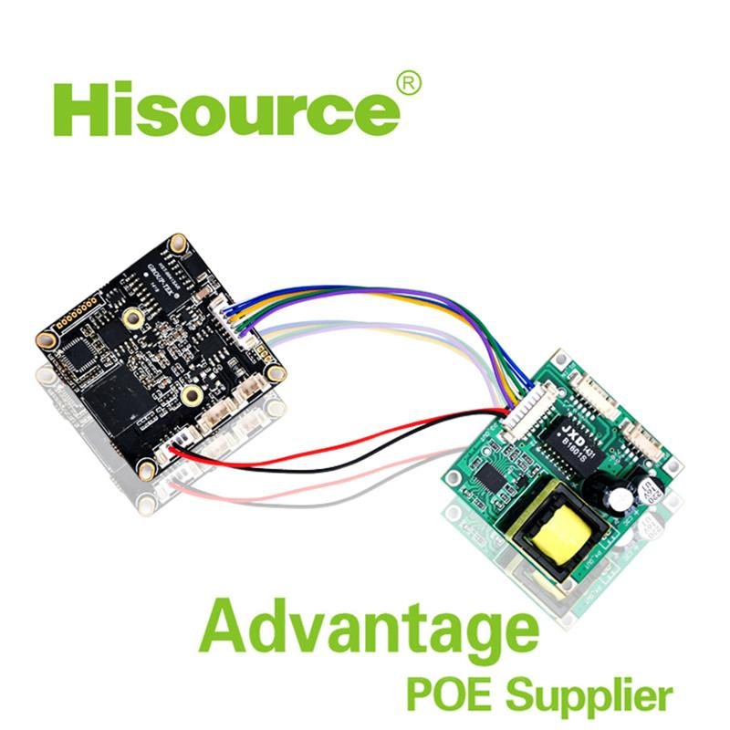 2016 Hot 38*38mm 48V in 12V out poe module pcb,poe module for ip