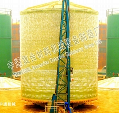Glass fiber reinforced plastic vertical storage tanks equipment