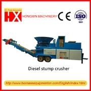 Stump Crusher stump grinder wood chipper Diesel Engine Mobile