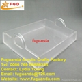 Fuguanda acrylic tray plate with handle