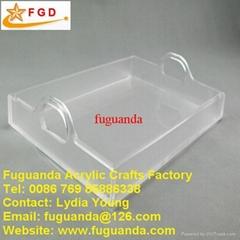 Fuguanda acrylic tray plate with handle