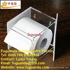 Fuguanda acrylic tissue box toilet paper case