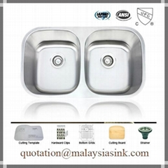 Malaysia 50/50 Stainless Steel Sink