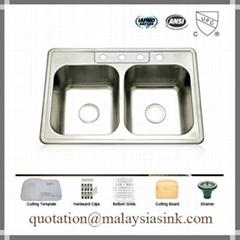 Malaysia Topmount Stainless Steel Sink