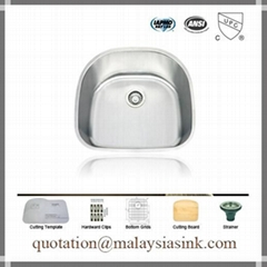 D Shape 304 Stainless Steel Sink