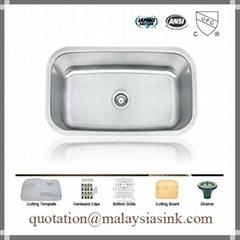 Big Single Bowl Stainless Steel Sink