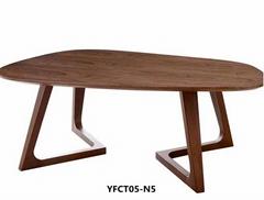 New style design iron imitating wood dinner table