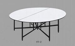 2015 top quality Restaurant folding iron PVC bistro table