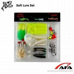 35 Worm Soft Lure Baits Small 10 Lead Head Jig Hook Soft Lure Set Fishing Set