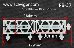 Interlock plastic pad deck board for outdoor DIY WPC timber IPE deck tile