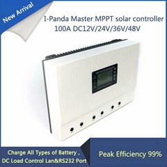 LCD 100A mppt solar charge controller 12V 24V 36V 48V 100A PV regulator  charge