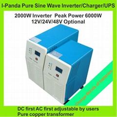 Homeuse supermarket removable 2000W pure sine DC inverter DC12V/24V/48V to AC in