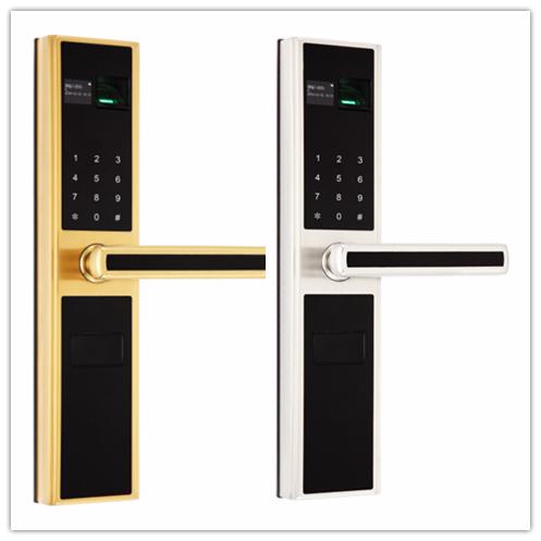 2016 Design Electronic Fingerprint Password Hotel Digital Door Handle LocK 3