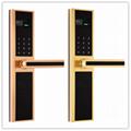 2016 Design Electronic Fingerprint Password Hotel Digital Door Handle LocK 1