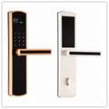 2016 Design Electronic Fingerprint Password Hotel Digital Door Handle LocK 2