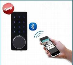 touch keypad Door Lock Controlled with  Smart Phone WiFi blu tooth Door Lock