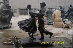 歐式人物銅雕
