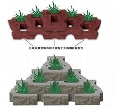 自嵌式植生擋土牆