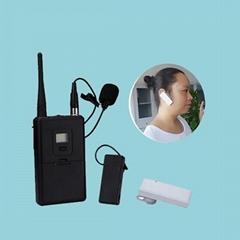 professional wireless audio 2.4Ghz Single Ear-hook Tour Guide Receiver