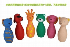 新款捏捏叫搪胶卡套玩具动物造型保龄球益智类游戏
