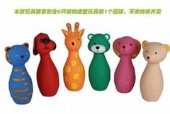 新款捏捏叫搪膠卡套玩具動物造型保齡球益智類遊戲