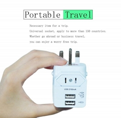 2.1A High quality travel plug with USB charger