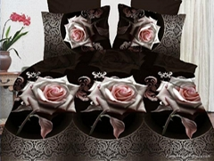 Beautiful quilted bed sheet flower 3D Bedding Set
