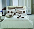 100% cotton pleat embroidery bedding set