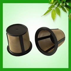 2015 hot sale resuable K-cup coffee filter gold tone