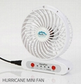 Handfan  usb mini battery Operated rechargeable fan with led light 3