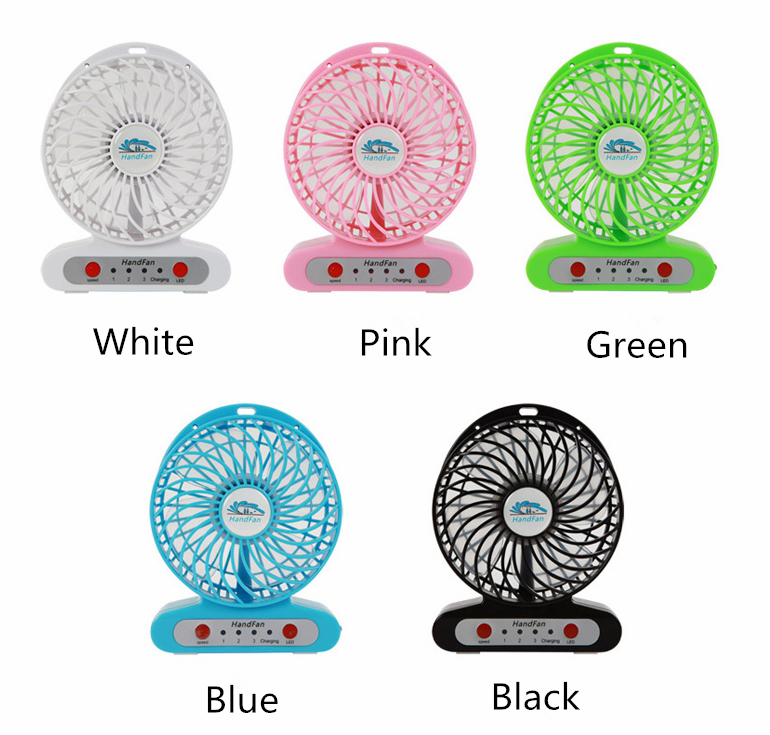 Handfan  usb mini battery Operated rechargeable fan with led light 5