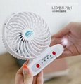 Handfan  usb mini battery Operated rechargeable fan with led light 4