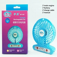 Handfan  usb mini battery Operated rechargeable fan with led light