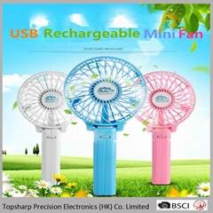 Handfan usb mini rechargeable battery operated fan
